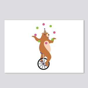 Juggling Bear Postcards (Package of 8)