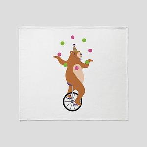 Juggling Bear Throw Blanket