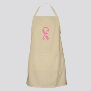 Personalize Pink Ribbon Light Apron