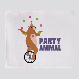 PARTY ANIMAL Throw Blanket