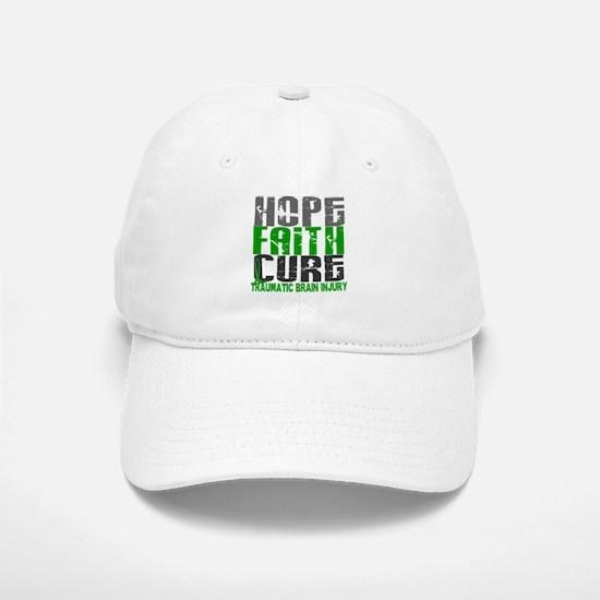 Hope Faith Cure TBI Baseball Baseball Cap