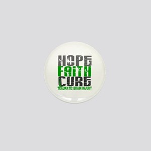 Hope Faith Cure TBI Mini Button