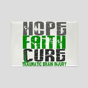 Hope Faith Cure TBI Rectangle Magnet