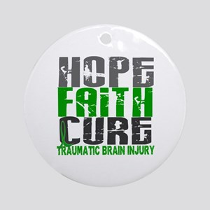 Hope Faith Cure TBI Ornament (Round)