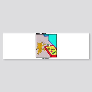 CAT LITTER BOX Sticker (Bumper)