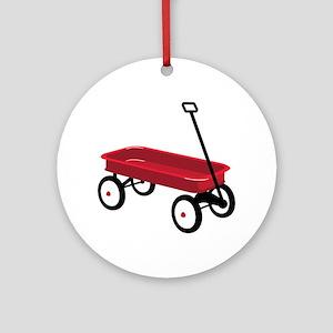 Red Wagon Ornament (Round)