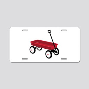 Red Wagon Aluminum License Plate