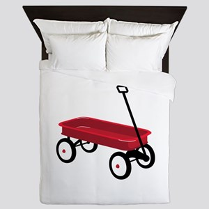Red Wagon Queen Duvet