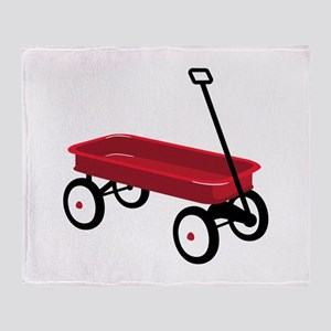 Red Wagon Throw Blanket