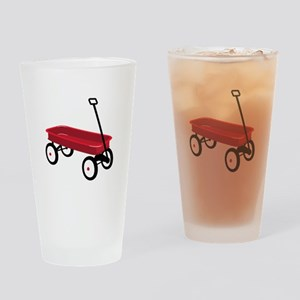 Red Wagon Drinking Glass