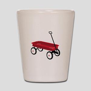 Red Wagon Shot Glass