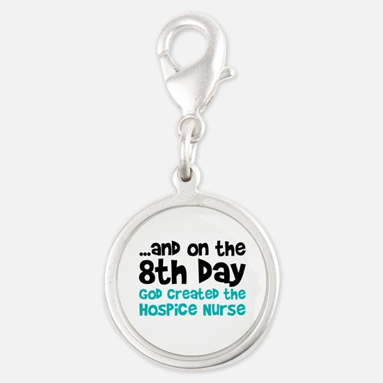 Hospice Nurse Creation Silver Round Charm