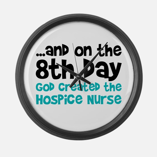 Hospice Nurse Creation Large Wall Clock