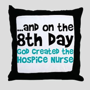 Hospice Nurse Creation Throw Pillow