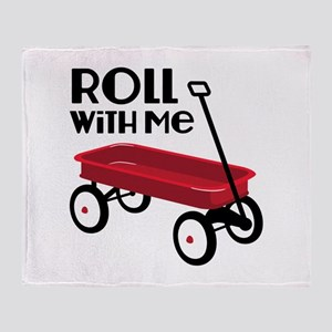 ROLL WiTH Me Throw Blanket