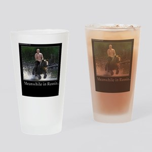 Vladimir Putin Riding A Bear Drinking Glass