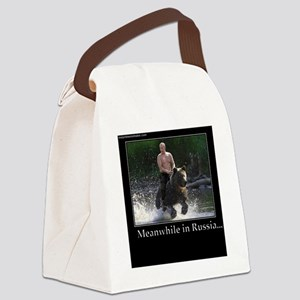 Vladimir Putin Riding A Bear Canvas Lunch Bag