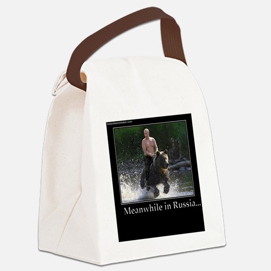Vladimir Putin Riding A Bear Canvas Lunch Bag