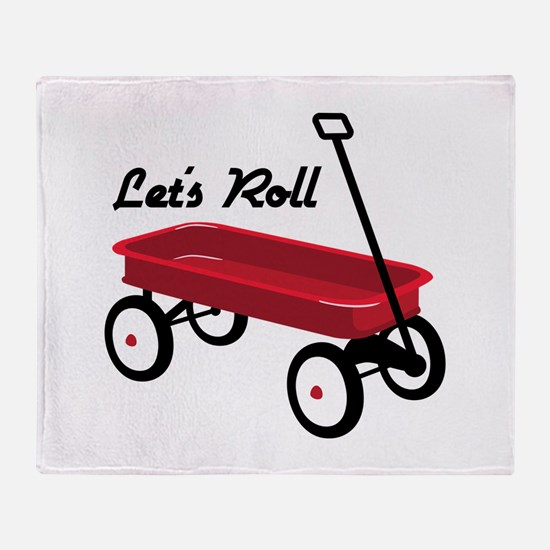 Lets Roll Throw Blanket