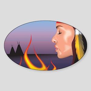Indian Fire Sticker (Oval)