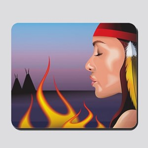 Indian Fire Mousepad