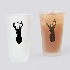 Buck Hunting Trophy Silhouette Drinking Glass
