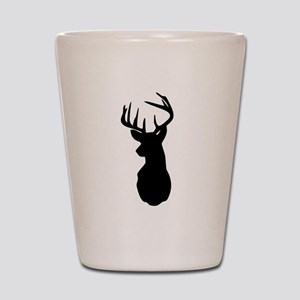 Buck Hunting Trophy Silhouette Shot Glass
