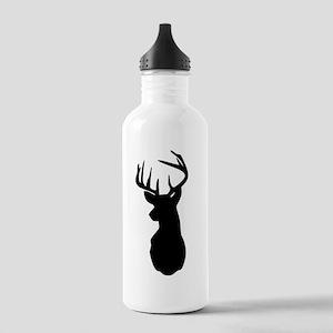 Buck Hunting Trophy Silhouette Sports Water Bottle