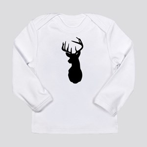 Buck Hunting Trophy Silhouette Long Sleeve T-Shirt
