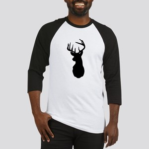 Buck Hunting Trophy Silhouette Baseball Jersey