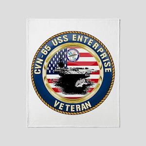 CVN-65 Enterprise Veteran Throw Blanket