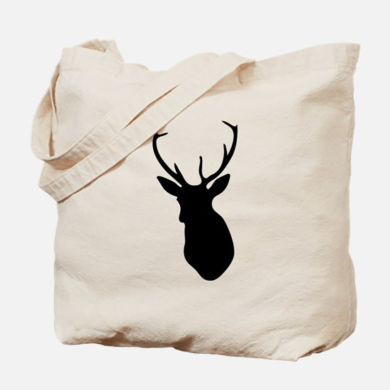 Buck Hunting Trophy Silhouette Tote Bag