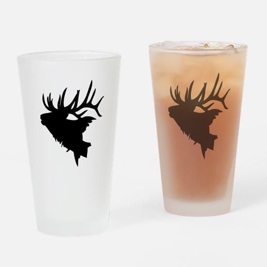 Elk Head Drinking Glass