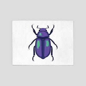 Purple Beetle 5'x7'Area Rug