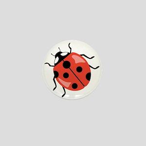 Red Ladybug Mini Button