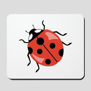 Red Ladybug Mousepad