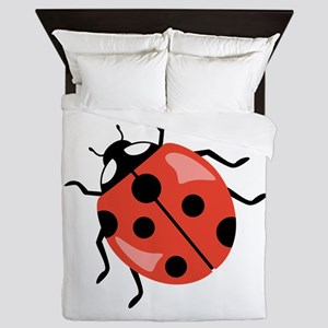 Red Ladybug Queen Duvet