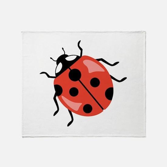 Red Ladybug Throw Blanket