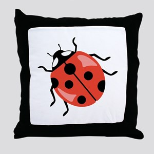 Red Ladybug Throw Pillow