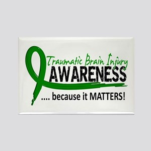 Awareness 2 TBI Rectangle Magnet