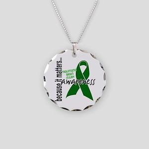 Awareness 1 TBI Necklace Circle Charm