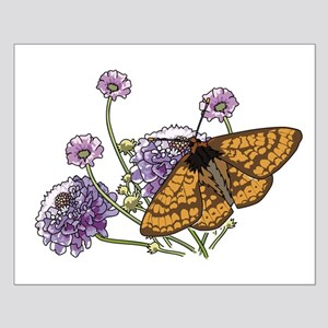 Monarch Butterfly And Flowers Poster Design