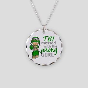 Combat Girl TBI Necklace Circle Charm