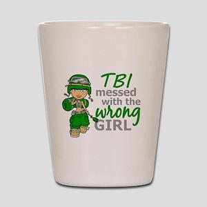 Combat Girl TBI Shot Glass
