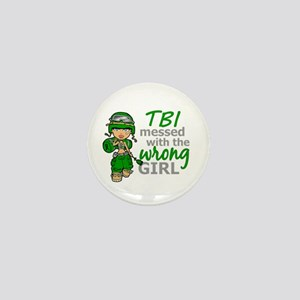 Combat Girl TBI Mini Button