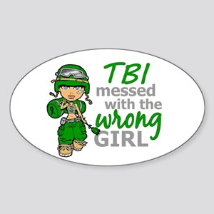 Combat Girl TBI Sticker (Oval)