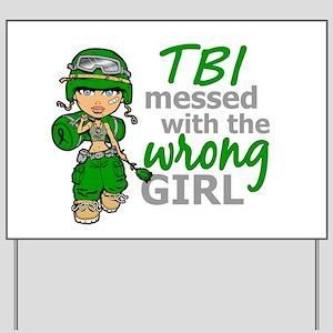 Combat Girl TBI Yard Sign