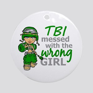 Combat Girl TBI Ornament (Round)
