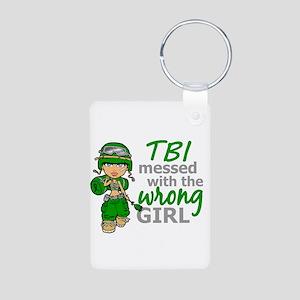 Combat Girl TBI Aluminum Photo Keychain