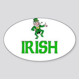 Irish Leprechaun Oval Sticker